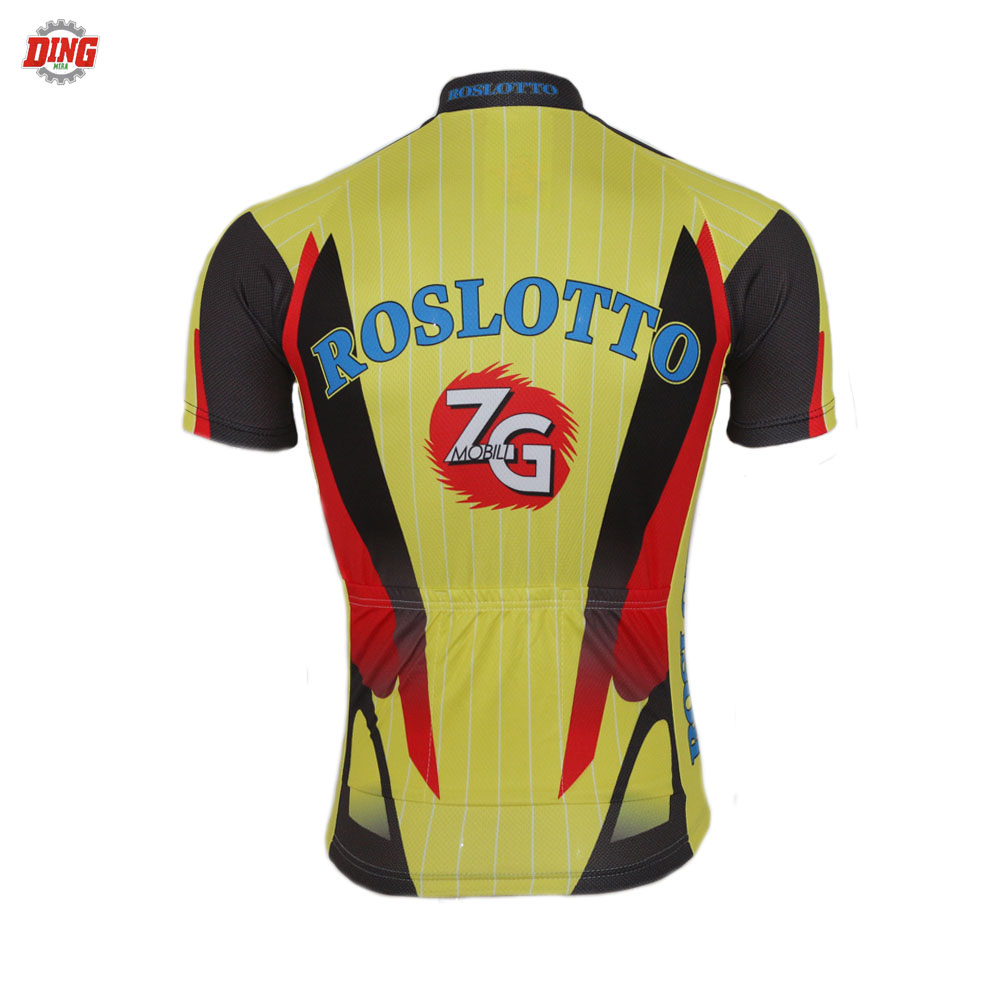 NEW Summer men Short sleeve cycling jersey ropa Ciclismo Racing team yellow cycling clothing MTB top Bicycle equipment road hot
