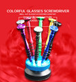 colorful glasses screwdriver set ,8 pcs screwdriver glasses ,watch ,fix tool ,good quality glasses accessories wholesale