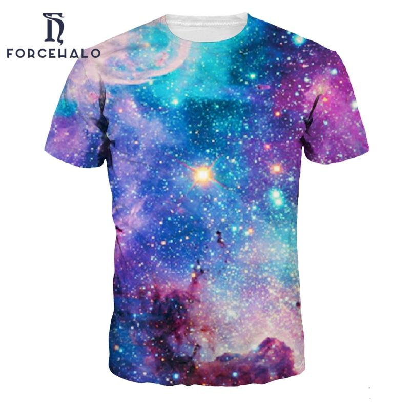 2017 summer style fashion t shirt men space galaxy printed for Printed t shirts mens fashion