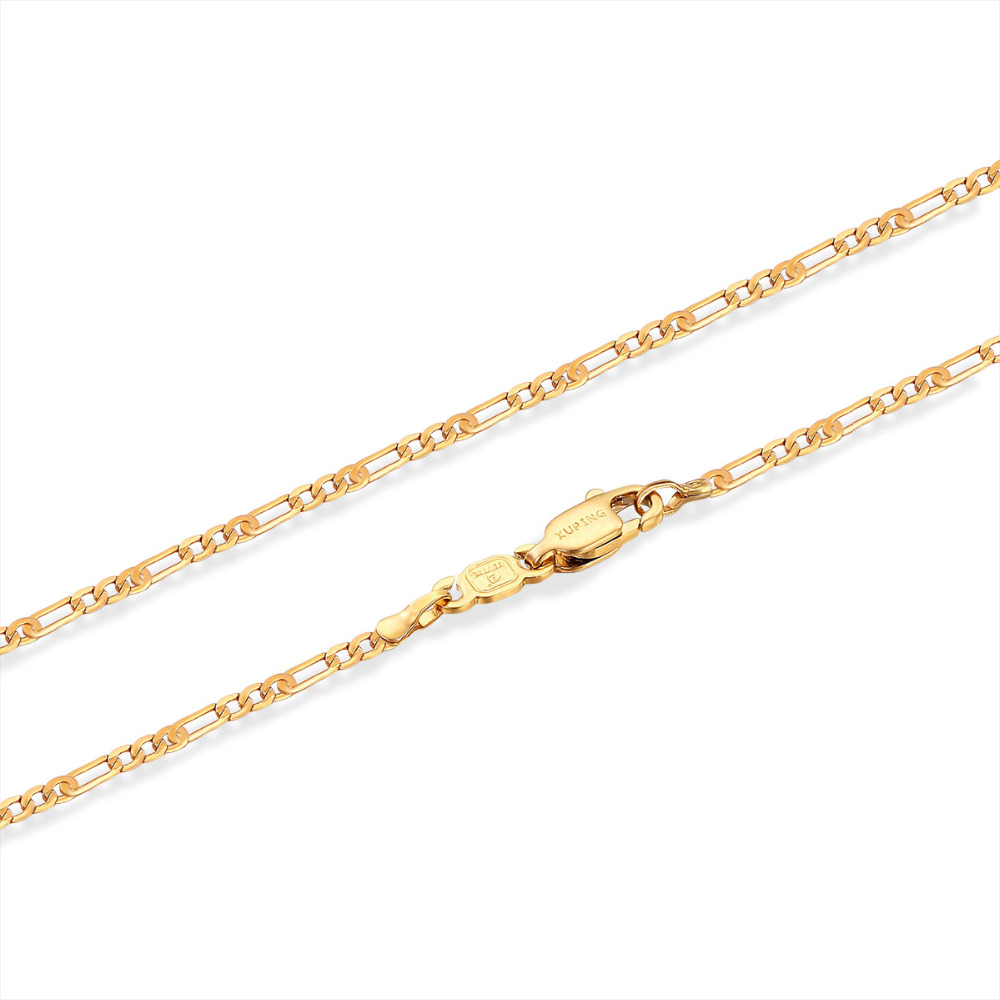 Yellow Gold Color Slim 1mm Box Chain Necklace Women Girls Kids