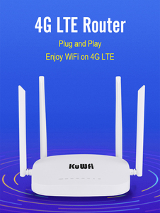 Image 5 - KuWfi 4G CPE Router 3G/4G LTE Wifi Router 300Mbps Wireless CPE Router With 4pcs External Antennas Support 4G to LAN Device