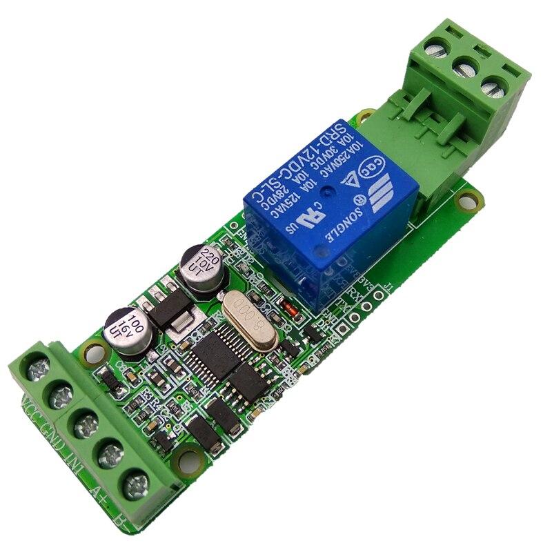 Módulo de Relé Interruptor de Entrada Modbus-rtu Saída Rs485 1-way 12 v –