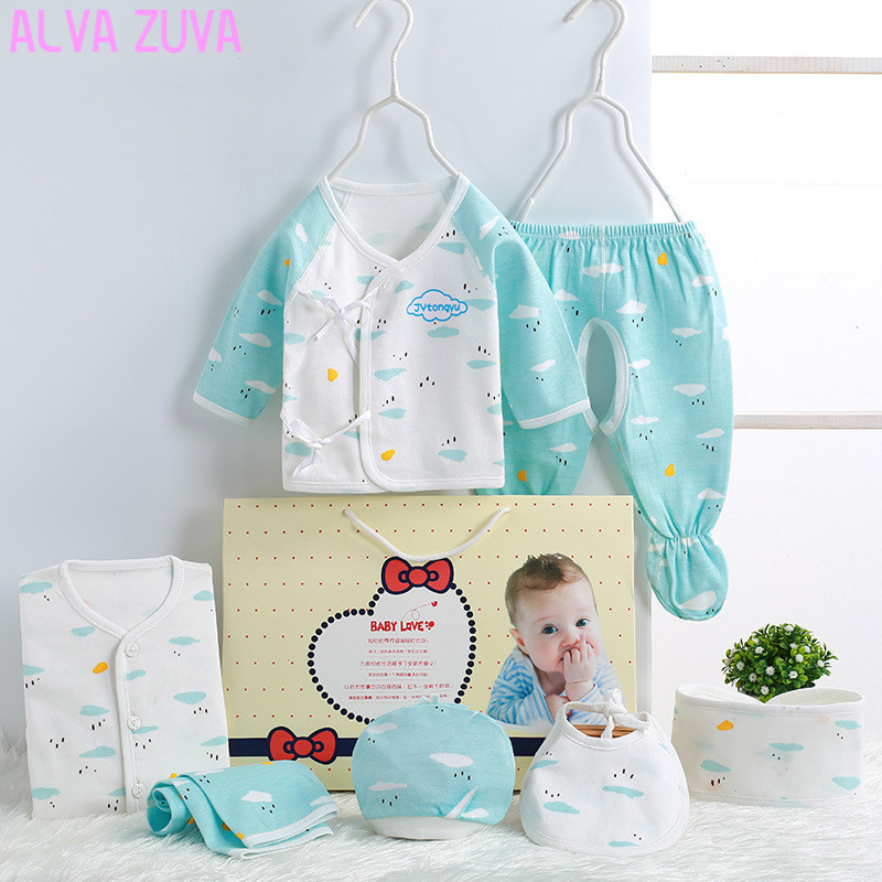 new arrival 2017 newborn set baby clothing gift sets 100% cotton infant underwear 7pc/sets for boys girls 0-3 months clt019