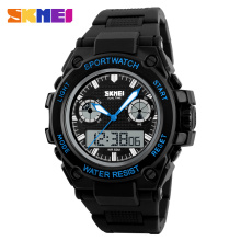2016 New Brand SKMEI SportS Watch Men Electronic Digital Analog Silicone Watch Waterproof Fashion Wristwatches for Mens
