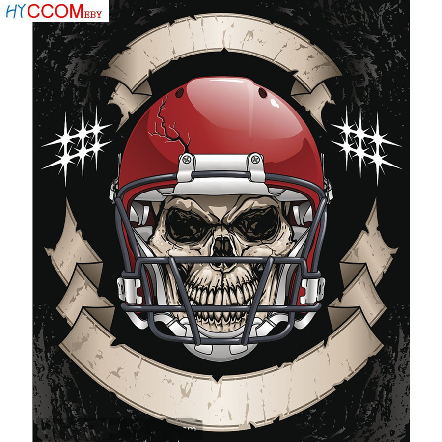 Diamond Painting Full Square / Round Drill NFL Team Logo American Football Team Helmet Logo Sport Man Crystal Cross Stitch 581DP image