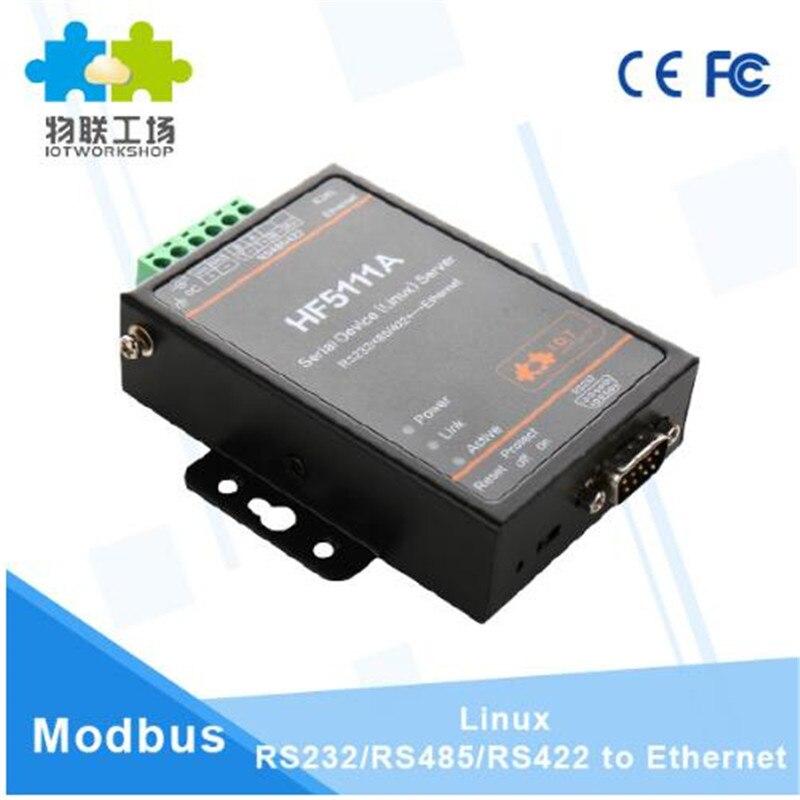 Module Wifi Offical HF5111A RJ45 RS232/485/422 à Ethernet Linux Port série serveur convertisseur dispositif connecteur industriel - 6