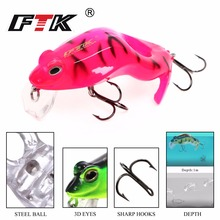 FTK Colorful Hard Frogs Fishing Lure basslure 1pcs/lot 60mm 8g Floating Topwater Fish Wobbler Artificial Crankbait lures