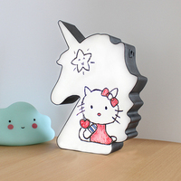 LED Unicorn Light Box Night Light DIY Cinema Handwriting Table Desk Lamp Decoration for Home Battery USB Operated Holiday L