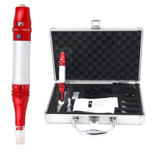 Free Shipping Red high quality Digital  permanent makeup  tattoo machine set/kit  for eyebrow/lip  with needle cartridge