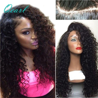 Qearl Hair 150% Density Kinky Curly 360 Lace Frontal Wigs Remy Hair Pre Plucked Hairline Brazilian Human Hair Wig with Baby Hair