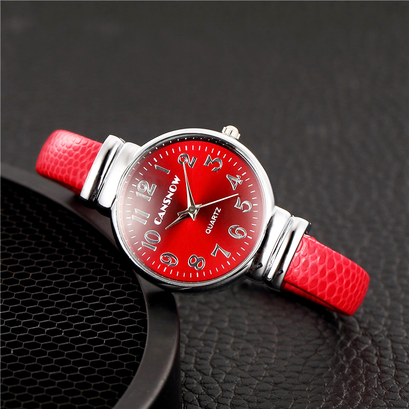Relogio Feminino Luxury Women's Red Stainless Steel Bracelet Watches Women Fashion Bangle Watch Casual Ladies Wrist Watch Clock