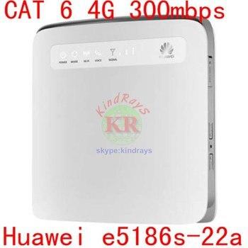 Разблокированный мини мобильный телефон 3g 4g маршрутизатор huawei e5186 lte маршрутизатор rj45 Cat6 300 Мбит/с e5186s-22a LTE беспроволочный Промышленный марш...