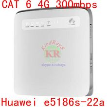 unlocked mini 3g 4g router huawei e5186 4g lte router with sim card rj45 Cat6 300mbps e5186s-22a LTE wireless industrial(China)