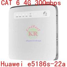 Разблокированный мини мобильный телефон 3g 4g маршрутизатор huawei e5186 lte маршрутизатор rj45 Cat6 300 Мбит/с e5186s-22a LTE беспроволочный Промышленный маршрутизатор pk b593 e5185