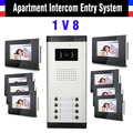 8 Units 7 Inch Monitor Video Intercom Doorbell Selection 2,4,6,8,10,12 Units Apartment Video Door Phone System