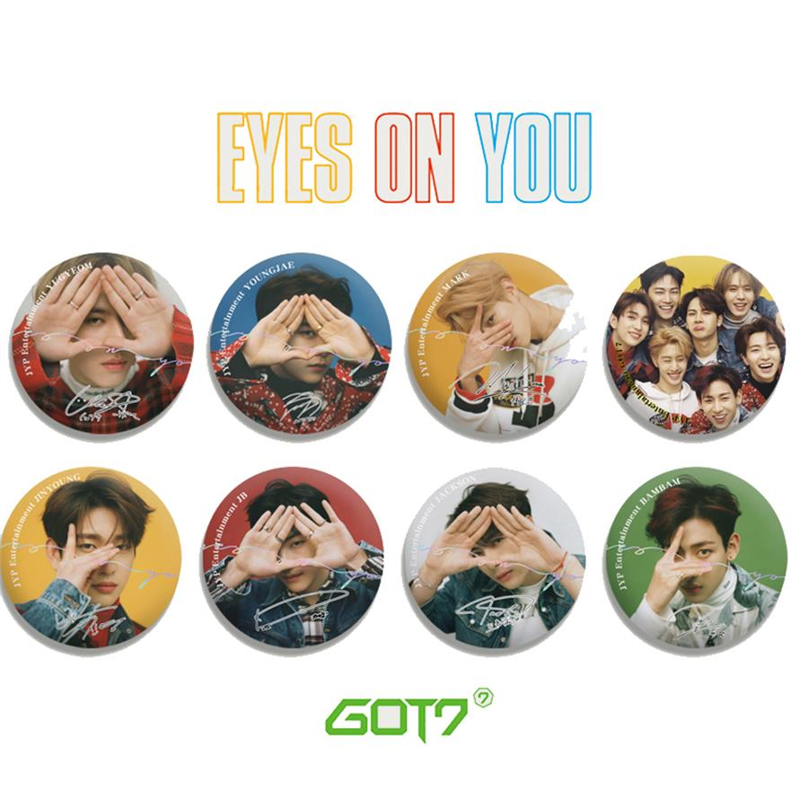 Kpop GOT7 Fashion Cute Chest Pin For Backpack Hat Cloths Eyes On You Bambam Yugyeom Round Badge Brooch Button