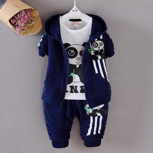 2017 весна осень новорожденный мальчики девушка, набор молния пальто + майка + брюки 3 шт. малыша мальчиков костюмы