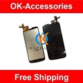 Black Color For Philips W8555 LCD Display+Touch Screen Digitizer Assembly 1PC/Lot