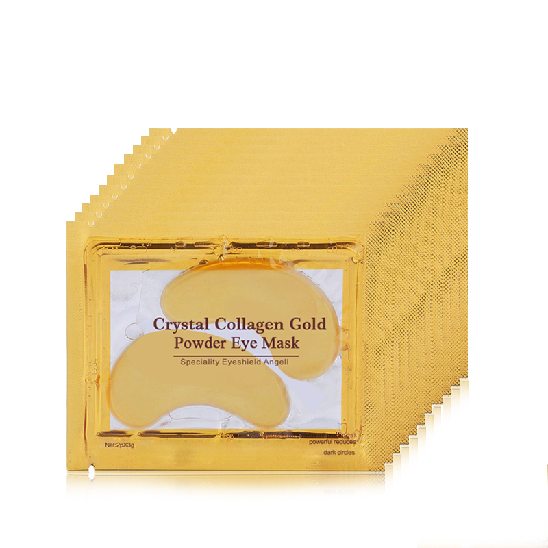 16pc=8pair 24K Gold Eye Mask for Face Mask Dark Circles Remover Crystal Collagen Eye Mask Anti-Wrinkle Patches for the Eyes Care