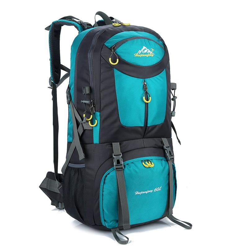 60L Waterproof Travel Hiking Backpack Sport Bag Gym Daypack Men Women Trekking Camping M ...