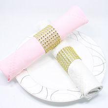 Napkin Rings for Wedding Holders Rhinestone Chair Sashes Banquet Dinner Christmas Table Decoration 100 pcs/lot
