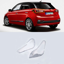 цена на ABS Chrome Exterior car-styling accessories taillight cover For HYUNDAI I20 high quality