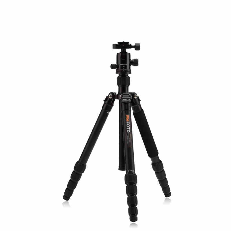 MeFOTO A2350Q2 GlobeTrotter Aluminum Professional Tripod Kit Portable Digital Video Camera Tripod With Stable Ball Head For DSLR mefoto a0320q00 aluminum alloy mini camera tripod portable desktop tripod stand support steady hold camera with tripod head