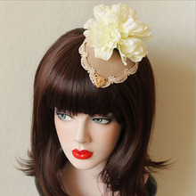 Exclusive Original Design Ladies Flowers Small Top Hat Vintage Hairpins Lace Hair Accessories