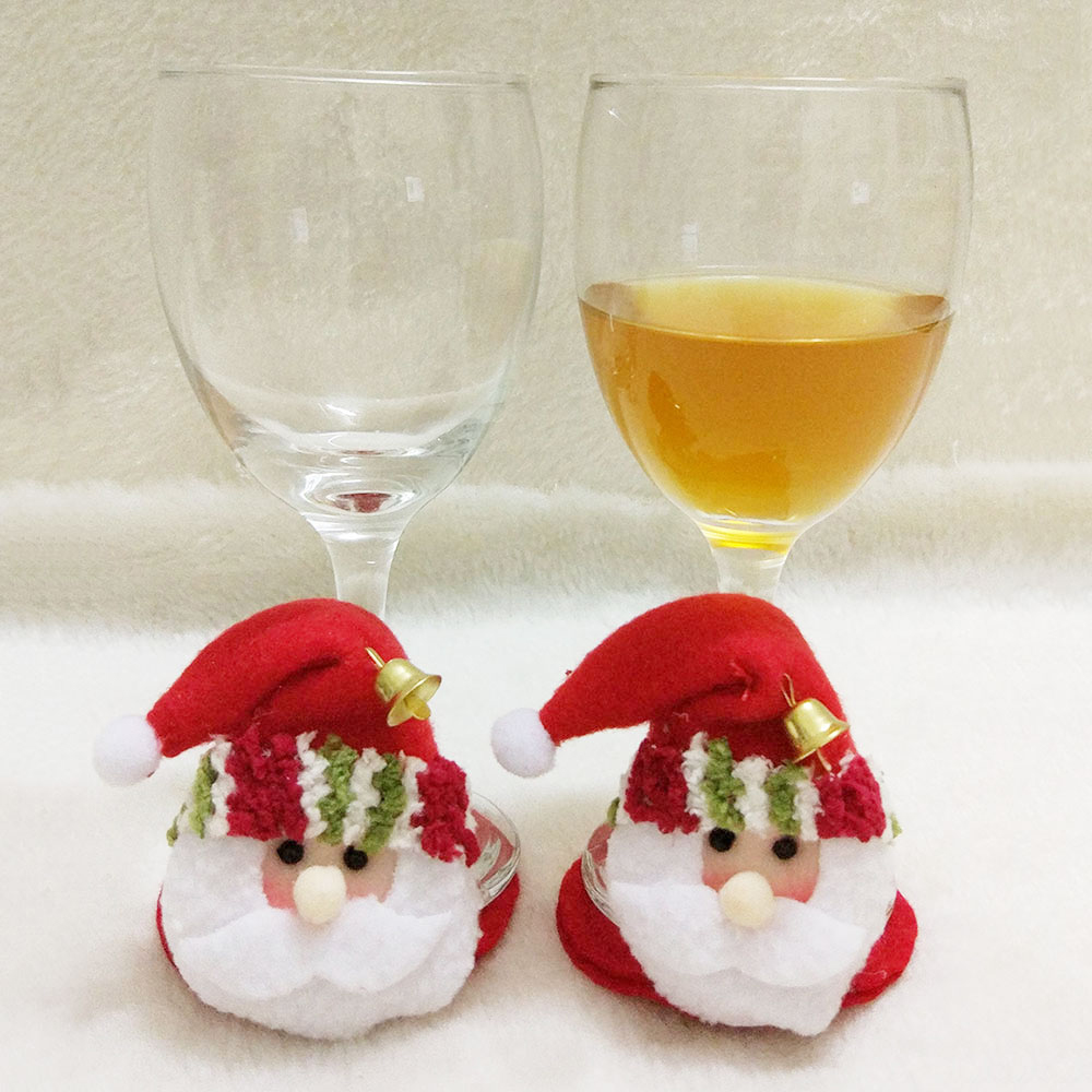 1 STKS Kerstfeest Ronde Onderzetters Kerstman Cup Mat Kerst Wijnfles - Feestversiering en feestartikelen - Foto 1