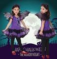 Halloween Christmas Costumes Children Clothing Purple Bat Girl Dress+wings+headband Fashion Party Show Cosplay Kids Tutu Dress