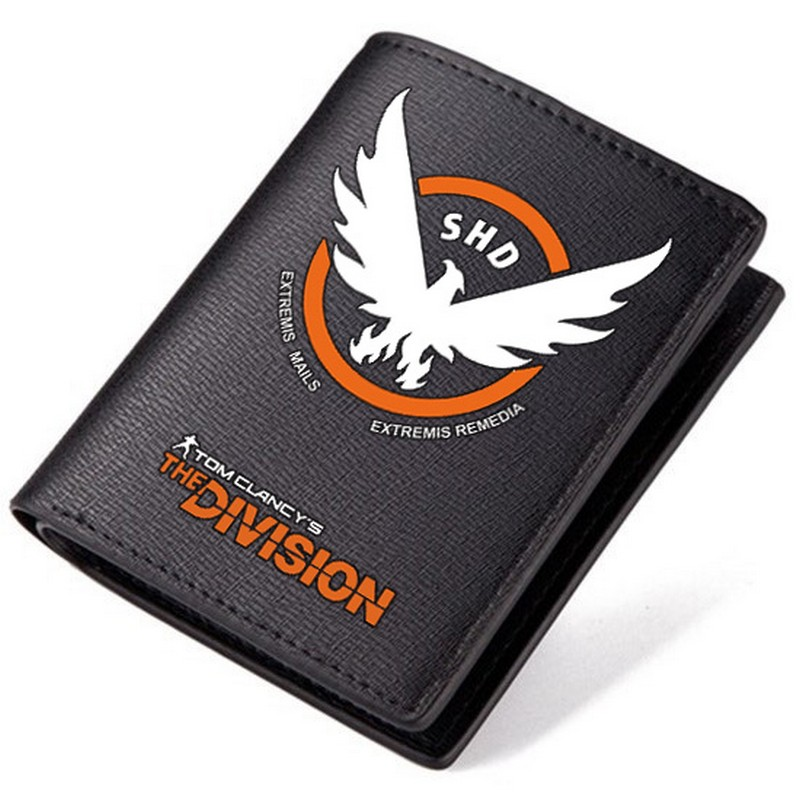 MeanCat The Division Short Wallet Tom Clancy SHD PU Wallets for Adult Students Birthday Gifts