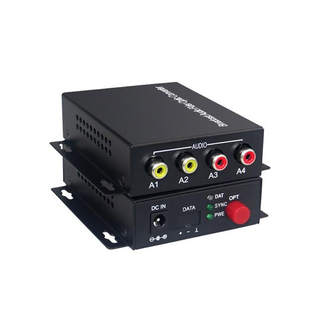 2 אודיו מעל סיב אופטי FC Extender (דו) משדר ומקלט, עבור מערכת שידור אינטרקום אודיו (Tx/Rx) ערכת