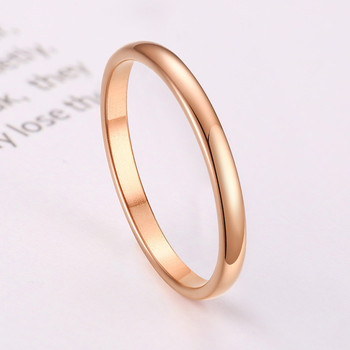 ZORCVENS 2020 New Engagement Ring for Women Simple 316L Stainless Steel Silver Gold Color Finger Girl Gift 5