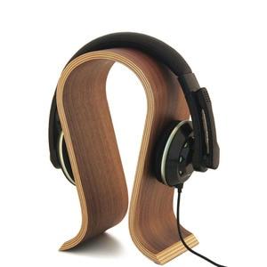 Wood Headphone Stand Earphone