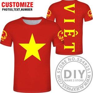 Image 3 - ויאטנם t חולצה diy משלוח תפור לפי מידה שם מספר vnm חולצה האומה דגל vn וייטנאם וייטנאמי המדינה טקסט הדפסת תמונה בגדים