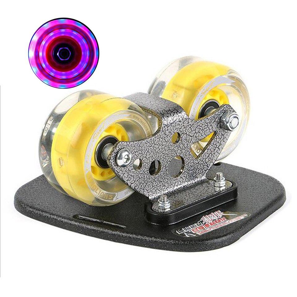 Dérive Board clignotant roues classique en alliage d'aluminium pour Freeline Roller route dérive patins antidérapant Skateboard Deck Wakeboard K007