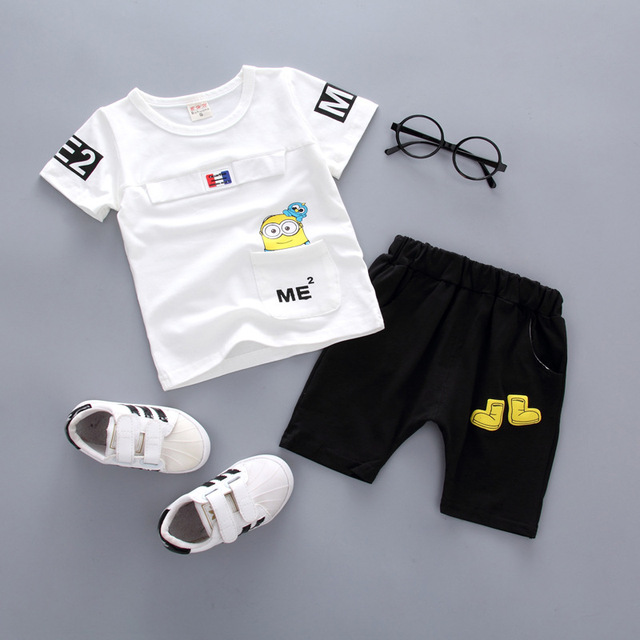 b3e2e22afa57b US $11.7 22% OFF|2 PCS New Toddler Infant Newborn Twins Baby Boy Girls  Casual T shirt Strip Pants Outfits Pajamas Suit -in Clothing Sets from  Mother & ...