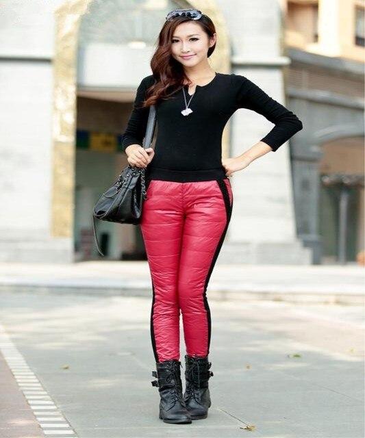 Высокое качество Товаров акции Предел цены Худая женщина три цвета брюки согреться 90% бархат эластичность Супер значение женский вниз брюки