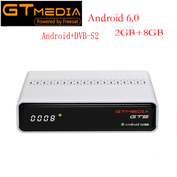 GTmedia GTS Satellite Receiver DVB-S2 dvb s2 Android 6.0 TV BOX+DVB-S/S2 Smart TV BOX 2GB RAM 8GB ROM S905D BT4.0 Set Top box цена