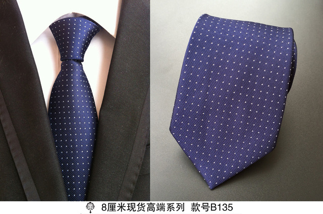 100% Silk Plaid Ties Gifts for Men 4