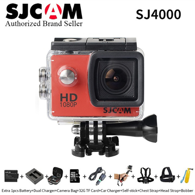 Original SJCAM SJ4000 Basic Mini Action Camera Go Waterproof Pro Yi 1080P HD Helmet Cam With