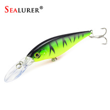 11cm 10.5g Minnow Crankbait Hard Bait Tight Wobble Slow Floating Jerkbait High Quality ABS Fishing Lure