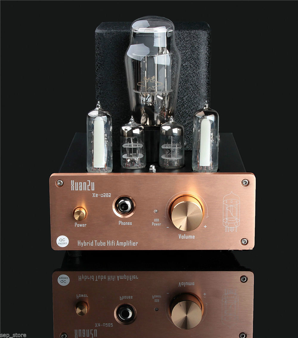 Hybrid Tube Hifi Amplifier USB DAC Decoder 6E2+6N3+6N5P Headphone Amp ZJ-68 iwistao hifi pure tube earphone amplifier 6n3 srpp drive 6n5p 32 600 ohms output power 1w stereo aluminum case black voice