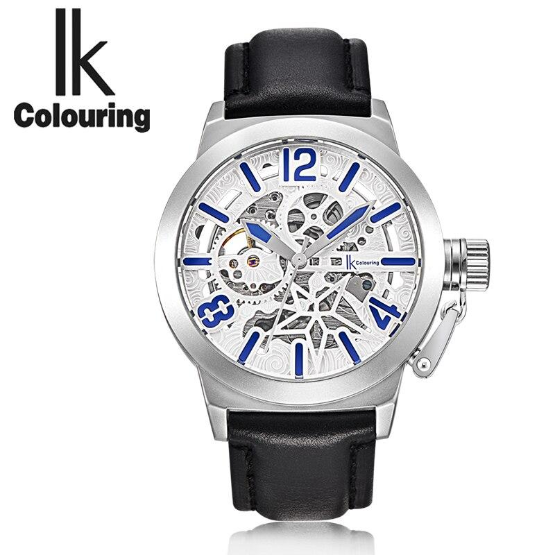 The new IK art RETRO font b military b font men automatic mechanical font b watches