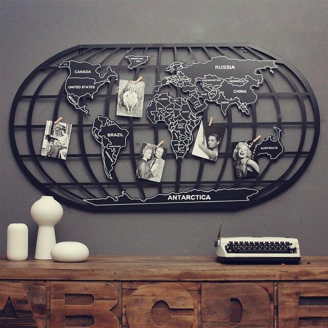 vintage eisen metall globus weltkarte s dlichen und n rdlichen hemisph re home office bar top. Black Bedroom Furniture Sets. Home Design Ideas