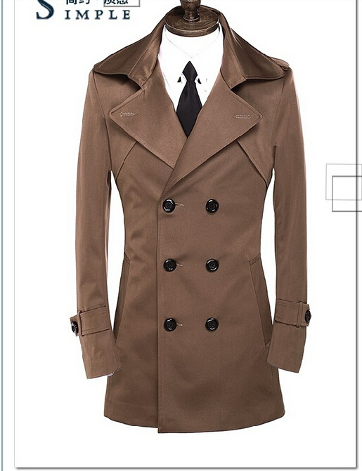 Popular Trench Coat Brown-Buy Cheap Trench Coat Brown lots from ...