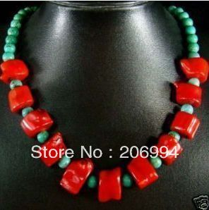 factory price new arrive Beautiful red coral stone beads necklace fashion jewelry gift free shipping