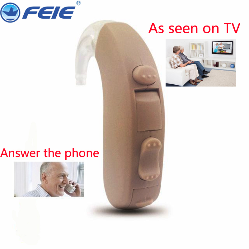 2 Channels Hearing Aid Hear Amplifiers Instrument High Low Frequency Volume Adjsutment Ear Care Answing the Phone MY-13 guangzhou feie deaf rechargeable hearing aids mini behind the ear hearing aid s 109s free shipping