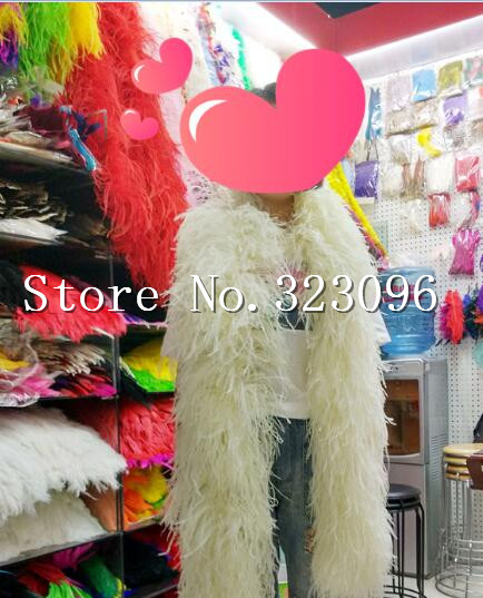 1pc 12ply feather boa red purple orange light pink turquoise green yellow red white and black royal blue Ostrich Feather Boa
