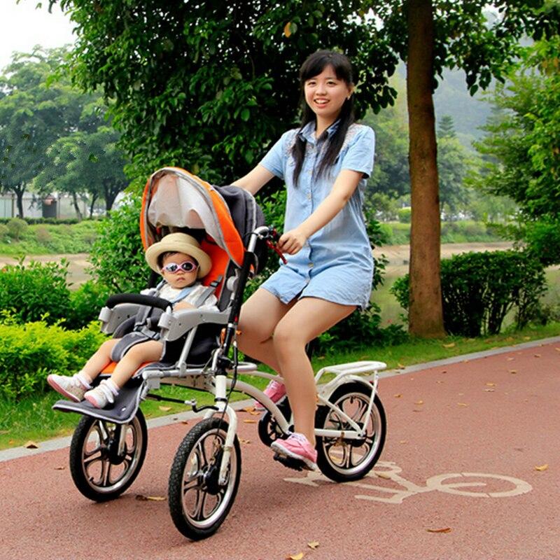 Poussette de vélo 2 en 1/panier avec moustiquaire et housse de pluie